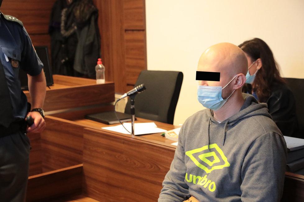 Martin K. u soudu 19. října 2020.