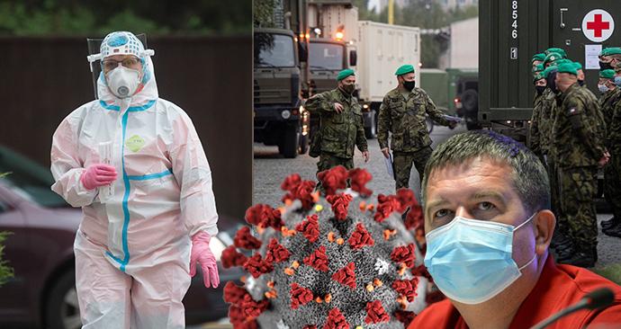 Odběr vzorku na covid-19 na Pardubicku, stěhování armádní nemocnice do Letňan a vicepremiér Jan Hamáček (ČSSD) zamířil do domácí izolace.