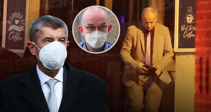 Premiér Andrej Babiš (ANO), nastupující ministr zdravotnictví Jan Blatný a končící šéf úřadu Roman Prymula (oba za ANO)