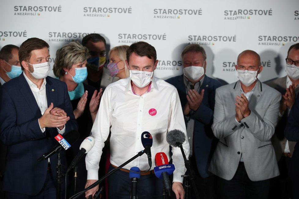 Martin Půta bude dotřetice hejtmanem na Liberecku (7. 10. 2020)