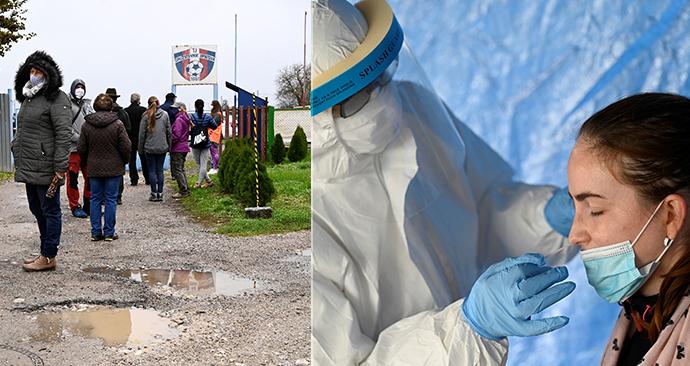 Plošné testování na koronavirus na Slovensku (31.10.2020)