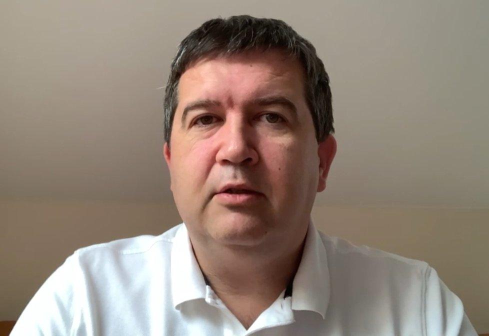 Jan Hamáček (ČSSD) promluvil z izolace, kam zamířil kvůli nákaze covid-19, v Partii na Primě