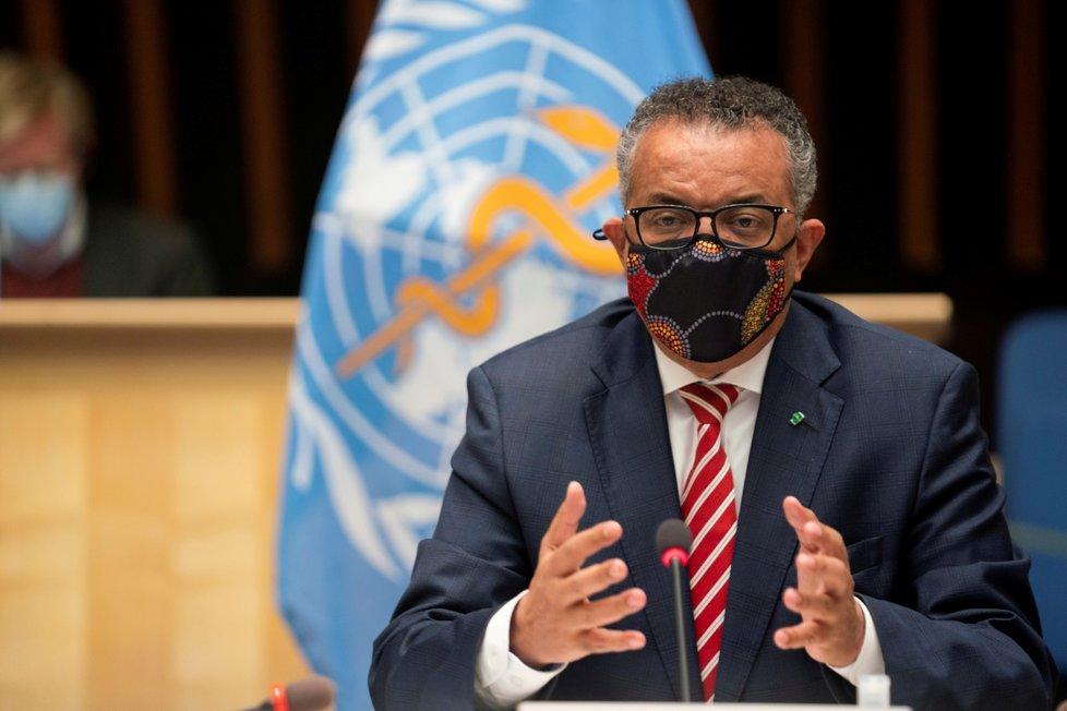 Generální ředitel Světové zdravotnické organizace (WHO) Tedros Adhanom Ghebreyesus