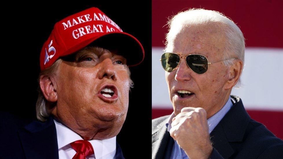 Donald Trump a Joe Biden - rivalové ve volbě prezident USA v roce 2020