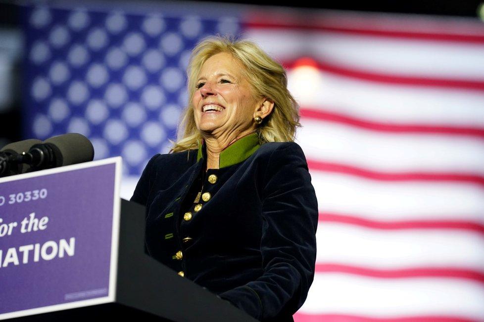 Budoucí první dáma USA Jill Bidenová během prezidentské kampaně svého muže