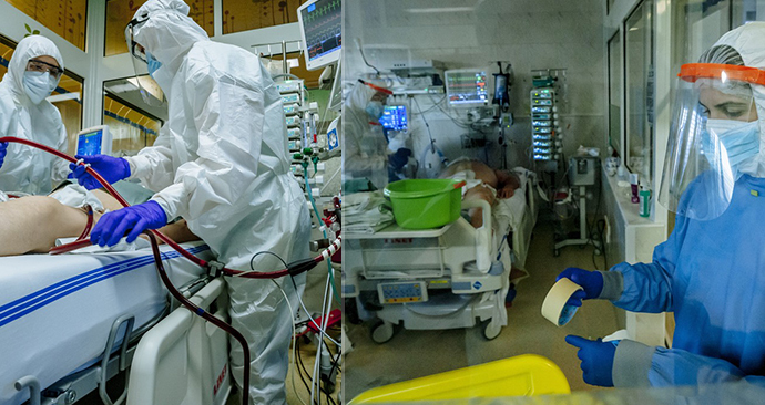 Boj s koronavirem v nemocnicích ve Zlínském kraji