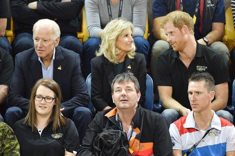 Princ Harry se s Jill Bidenovou přátelí už od roku 2013
