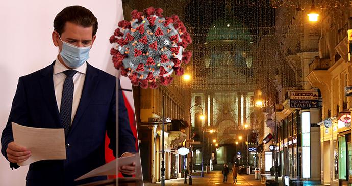 Rakousko zavírá školy a obchody, omezí i možnost pohybu na veřejnosti