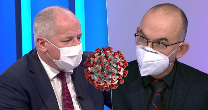 Bývalý a současný ministr zdravotnictví: Roman Prymula (vlevo) a Jan Blatný (za ANO; 15. 11. 2020)