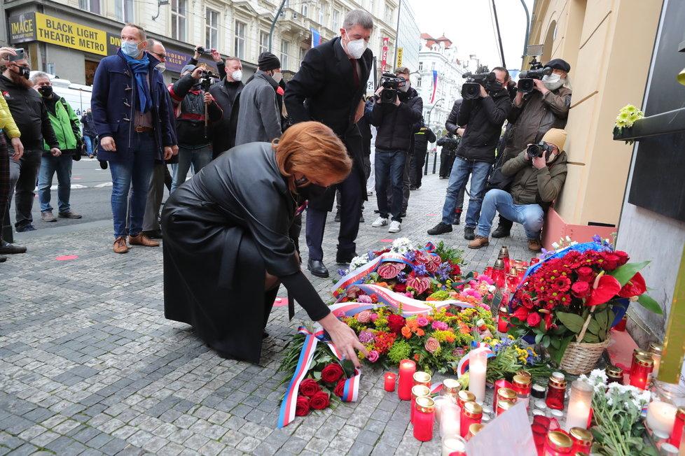 17. listopad 2020: Andrej Babiš dorazil na Národní třídu s Alenou Schillerovou v osm ráno