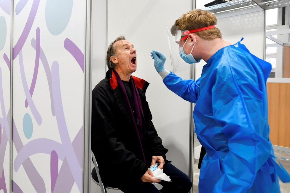 Testování na koronavirus v Utrechtu.