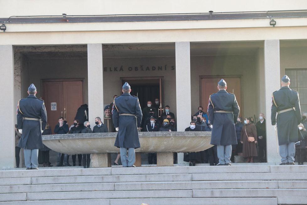 Pohřeb vojačky Michaely Tiché, 20. listopadu 2020.
