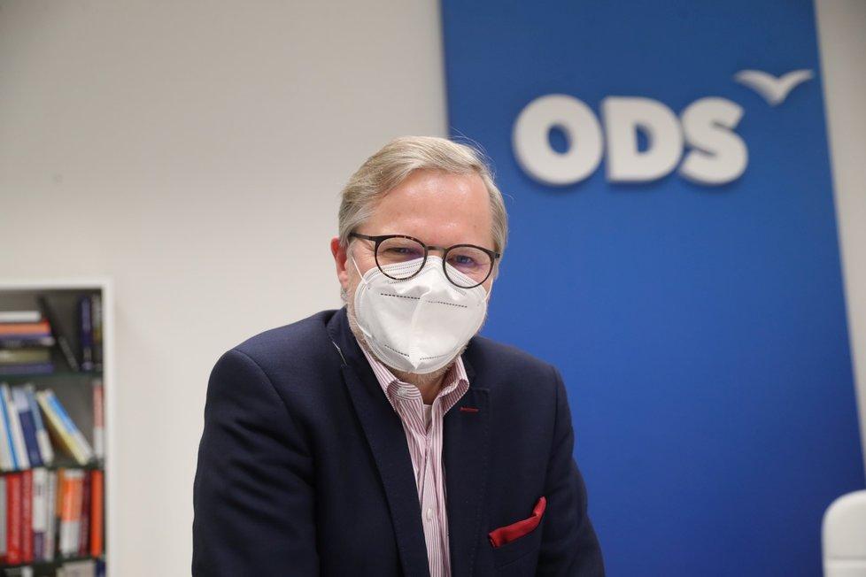 Předseda ODS Petr Fiala při rozhovoru pro Blesk.