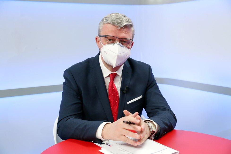 Ministr dopravy, průmyslu a obchodu Karel Havlíček (za ANO) v pořadu Epicentrum Blesk Zpráv (25.11.2020)