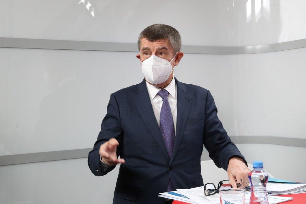 Premiér Andrej Babiš (ANO) byl hostem v pořadu Epicentrum. (26.11.2020)