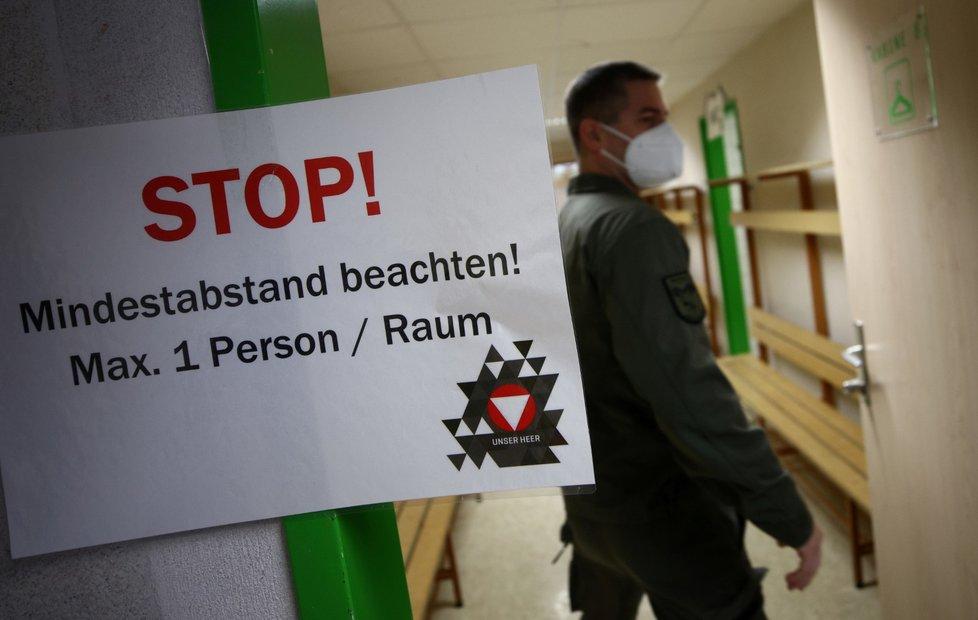 S testováním pomáhá v Rakousku armáda.