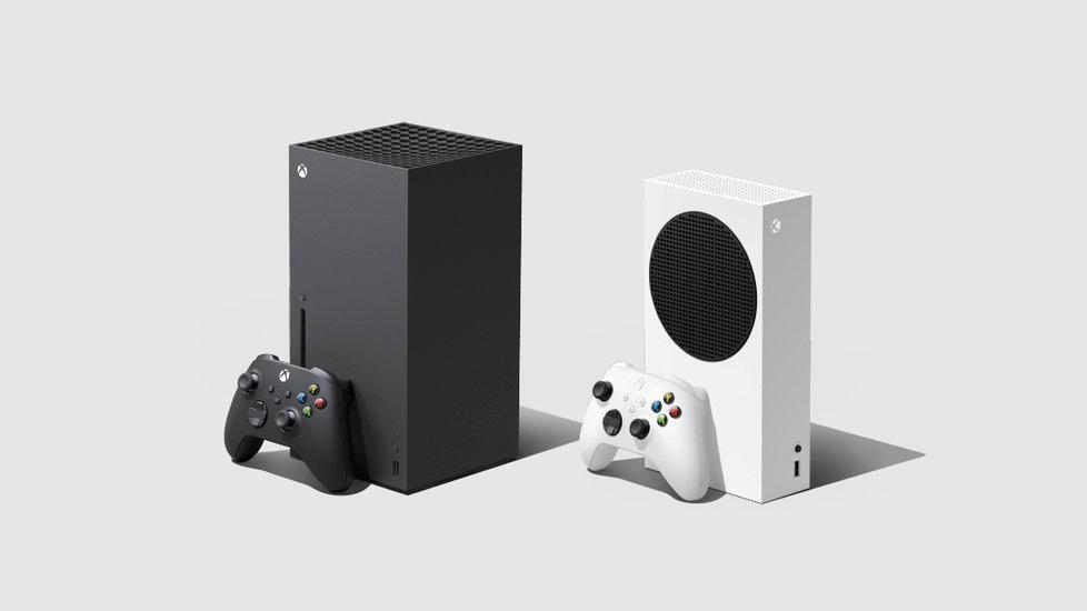 Konzole Xbox Series X a Xbox Series S.