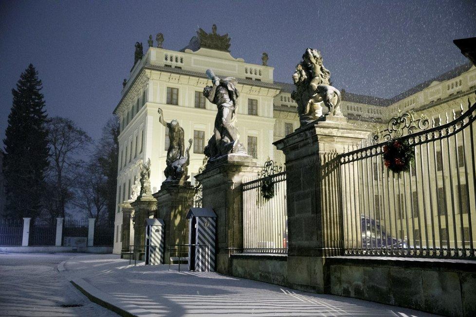 Sníh v Praze (3. prosince 2020)