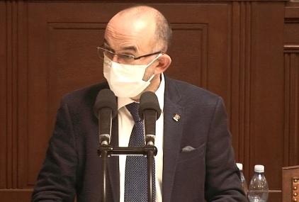 Debata o očkování proti covid-19 ve Sněmovně: Ministr zdravotnictví Jan Blatný (za ANO)