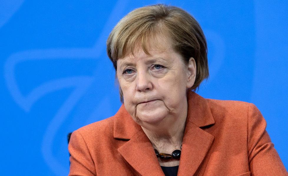 Německá kancléřka Angela Merkelová při oznamování nového lockdownu (13.12.2020)