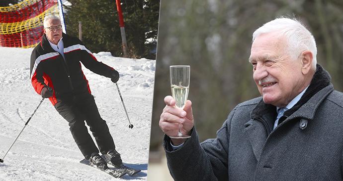 Exprezident Václav Klaus pokřtil další knihu a chystá se na lyže.