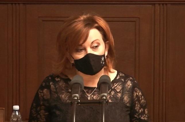 3. čtení rozpočtu: Alena Schillerová během závěrečného slova (18.12.2020)