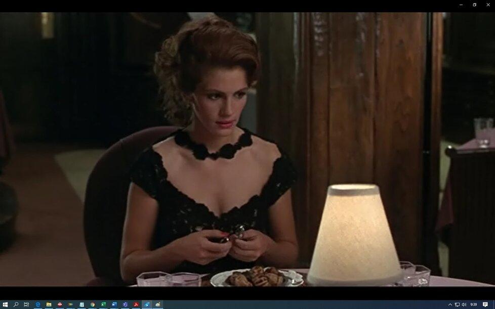 Julia Roberts ve filmu Pretty Woman: Slavná scéna se šneky