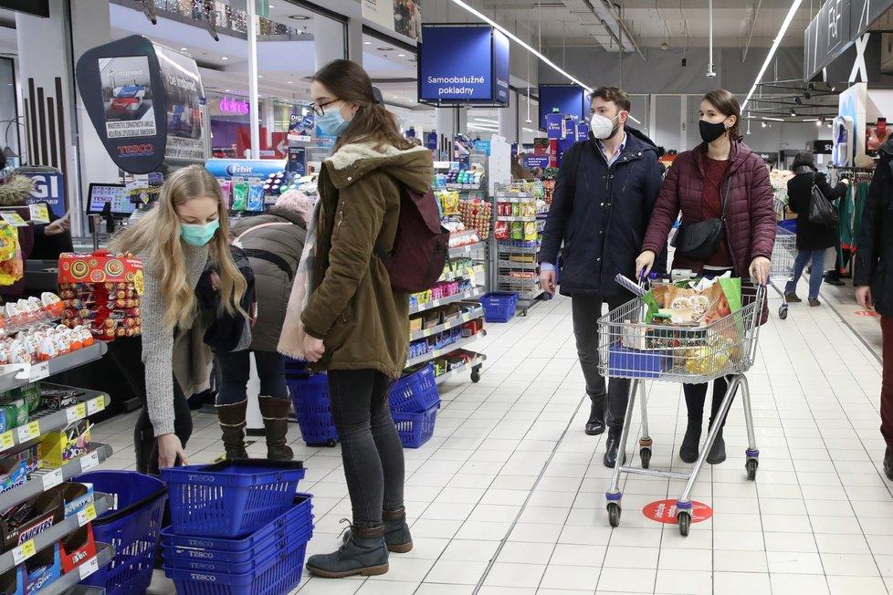 Nákupy v době pandemie covidu