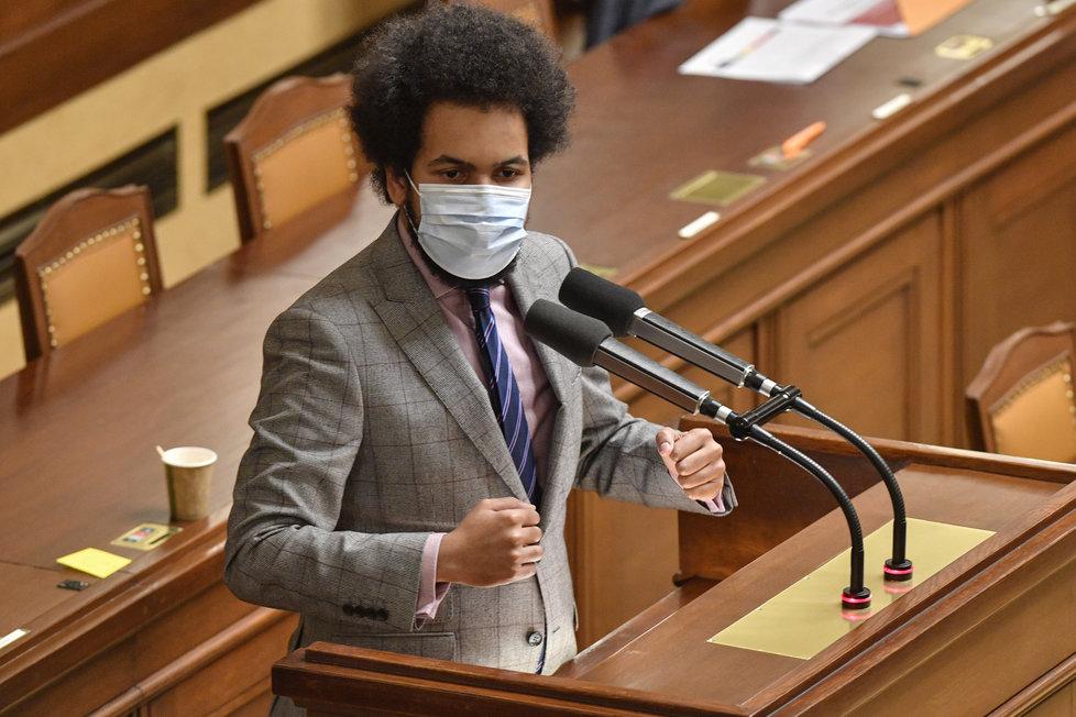 Jednání Sněmovny o prodloužení nouzového stavu: Poslanec TOP 09 Dominik Feri (za ANO), (22.12.2020)