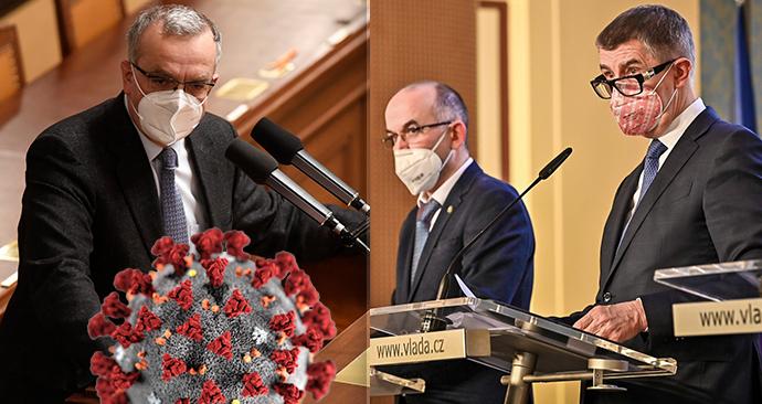 Spor o novoroční oběd v Lánech: Miroslav Kalousek (TOP 09), Jan Blatný (za ANO) a Andrej Babiš (ANO)