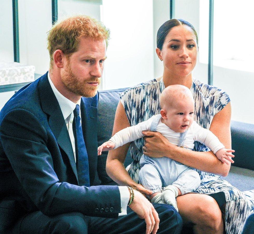 Princ Harry, manželka Meghan a syn Archie