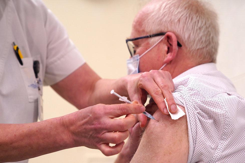 Start očkování proti koronaviru v Českých Budějovicích (31.12.2020)