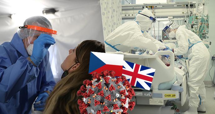 Nový kmen koronaviru z Velké Británie se do Čech zatím nedostal