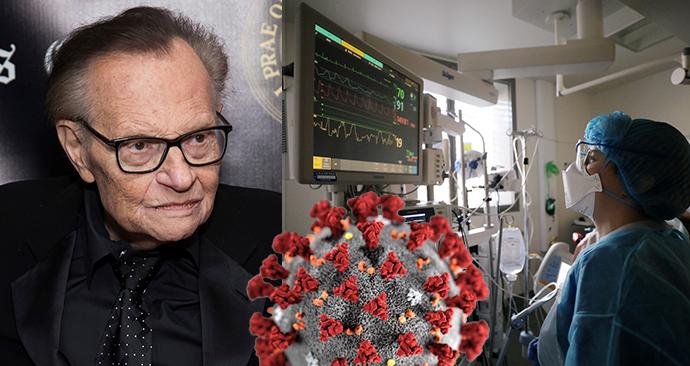 Moderátor Larry King byl hospitalizován s covidem, kvůli cukrovce patří do rizikové skupiny.