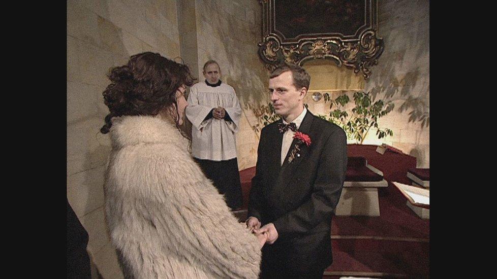 Svatba Ester Janečkové s manželem Zdeňkem