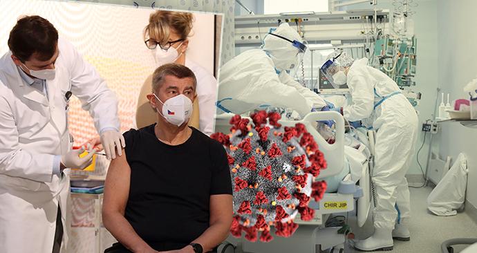 Koronavirus v ČR: Dál probíhá očkování, nemocnice hlásí problémy s růstem počtu hospitalizovaných.
