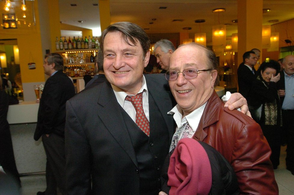 Petr Janda s Ladislavem Štaidlem