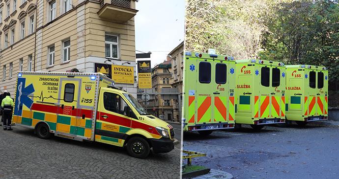 Vozy pražské zdravotnické záchranné služby