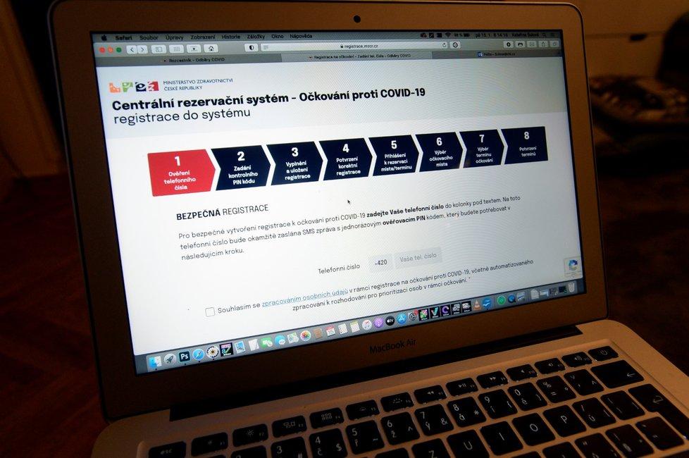 Centrální registrační systém k očkování proti koronaviru (15. 1. 2021)
