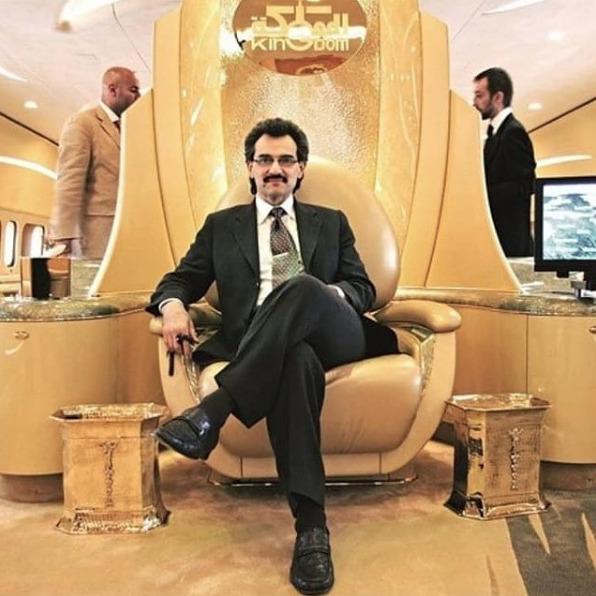 Al-Valíd bin Talál, synovec krále Abdalláha, se řadí na 30. pozici v žebříčku nejbohatších lidí světa.