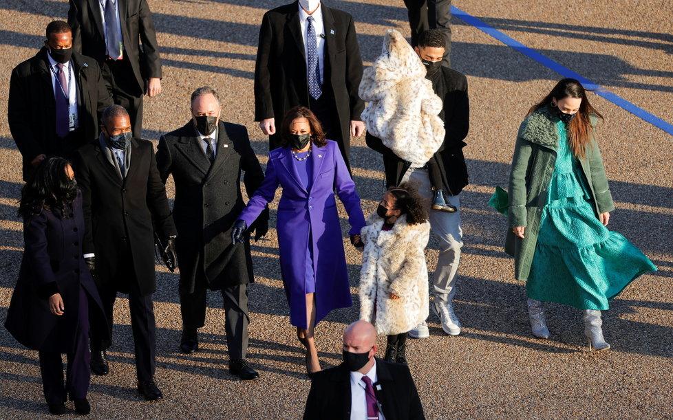 Viceprezidentka Kamila Harrisová na cestě do Bílého domu, (20.01.2021).
