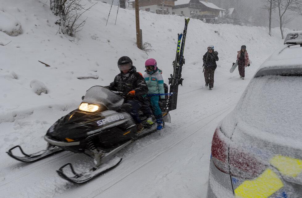 Skiareál Telnice chtěl v sobotu 23.1.2021 otevřít, zatrhla to ale policie.