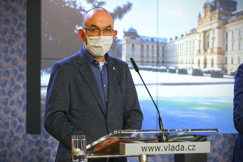 Jan Blatný při tiskovce na Úřadu vlády (28.1.2021)
