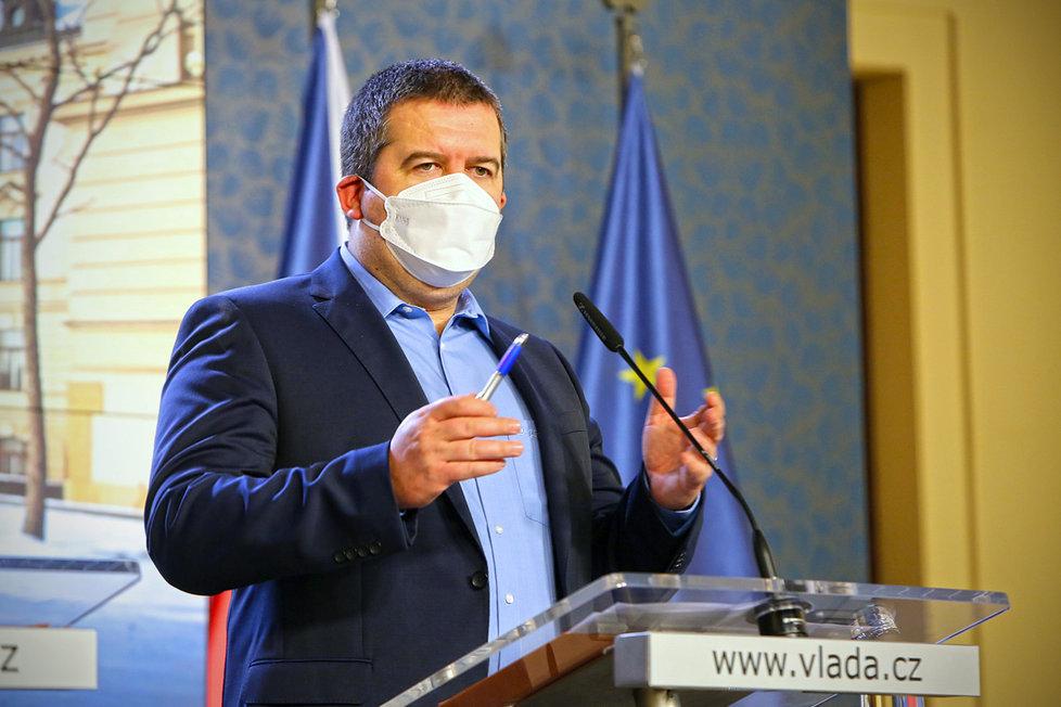 Jan Hamáček při tiskovce na Úřadu vlády (28.1.2021)