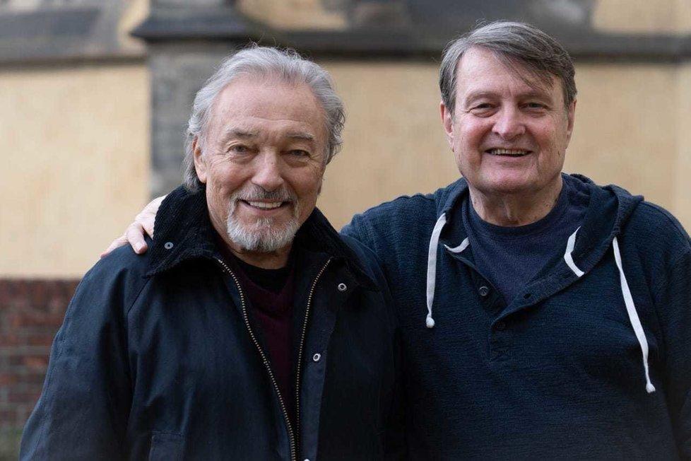 Ladislav Štaidl a Karel Gott v březnu 2019
