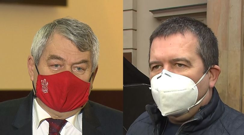 Šéf komunistů Vojtěch Filip a vicepremiér a předseda ČSSD Jan Hamáček