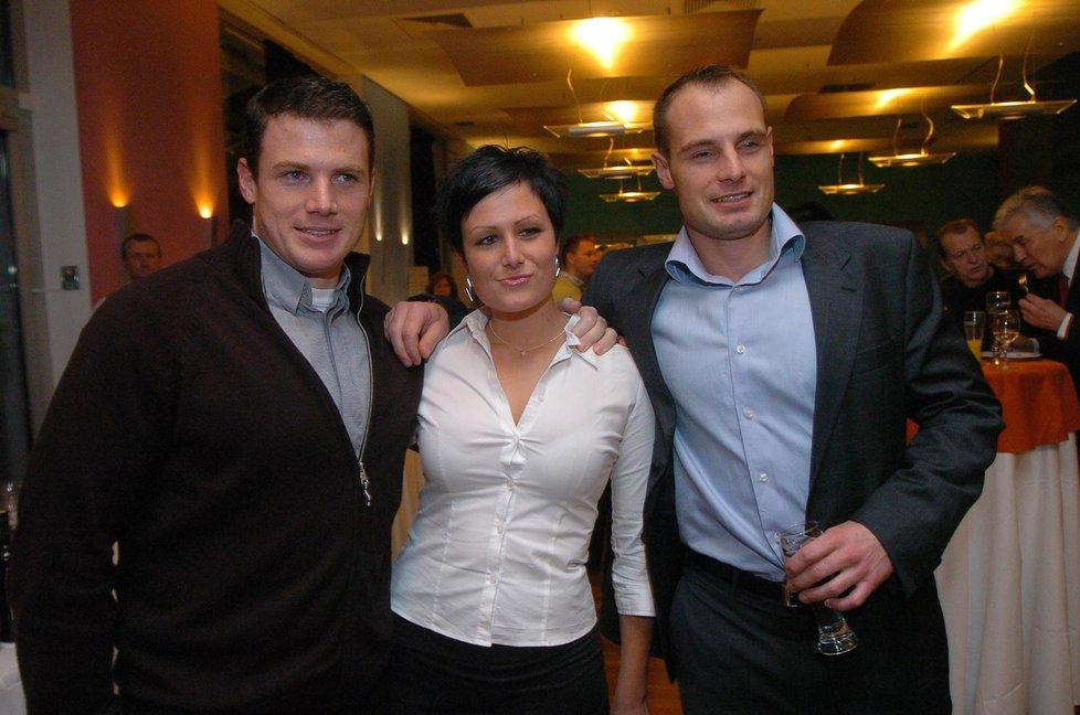 Potomci Ladislava Štaidla: (zleva): Syn Jan, dcera Karolína a syn Jiří