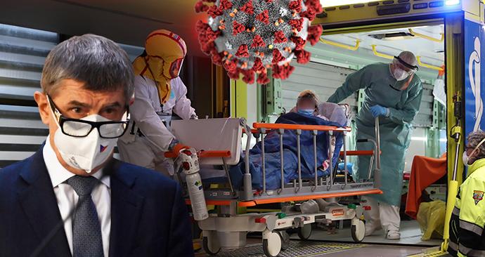 Premiér Andrej Babiš (ANO) a transport pacientů s covidem v Česku