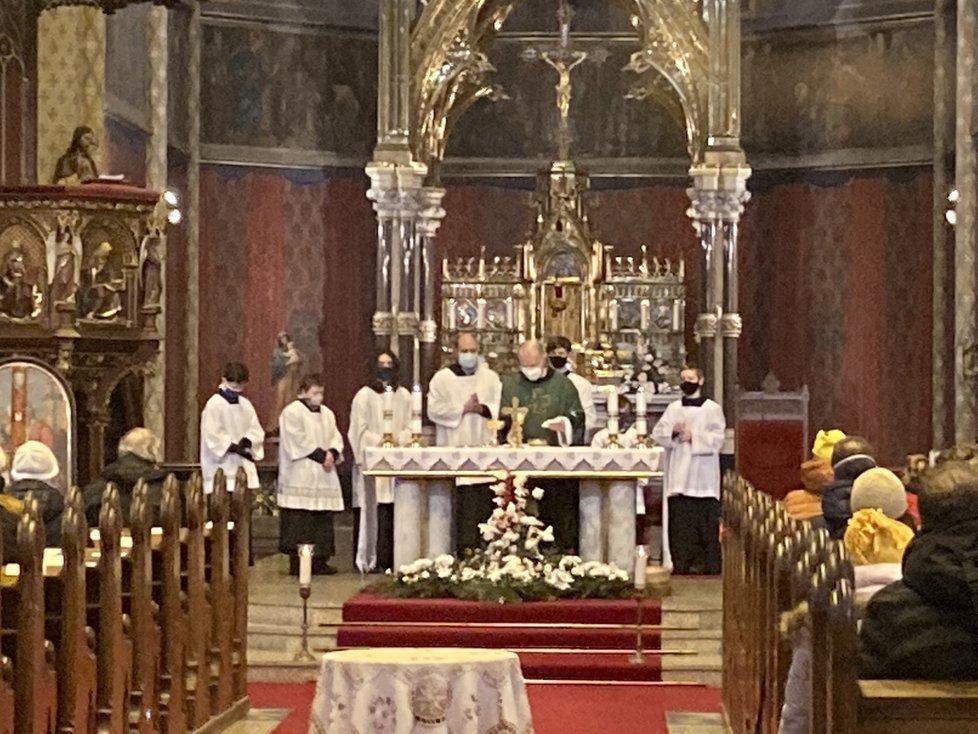 V Praze proběhla zádušní mše za Ladislava Štaidla (†75). (7. 2. 2021)