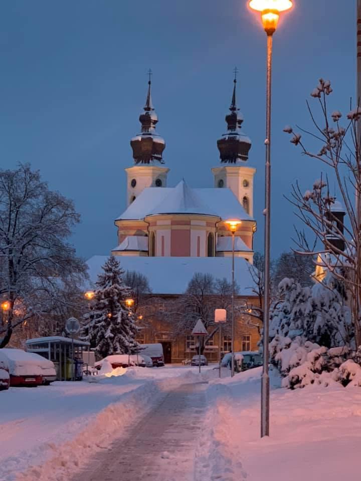 Sníh v Březně, 8. února 2021.